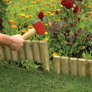Photo of Forest Garden Easy To Fix Timber Border Edging – 150 X 1000 Mm