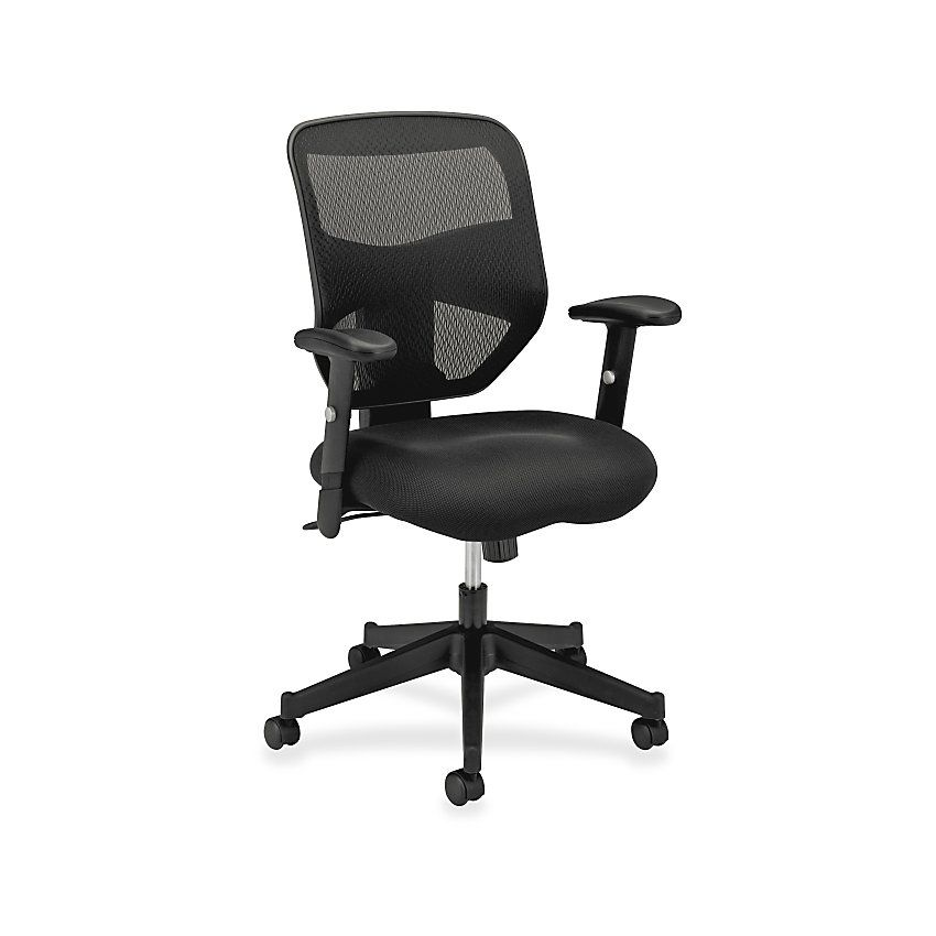 Sillas Office Depot.Basyx By Hon Vl531 High Back Mesh Fabric Task Chair 42 1 2 H X 29