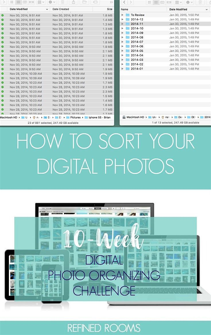 In week 5 well be sorting digital photos into a core file structure digitalphotos photoorganizing