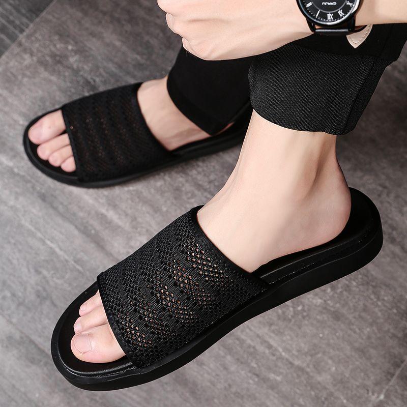 casual fashion wear net red sandals men
