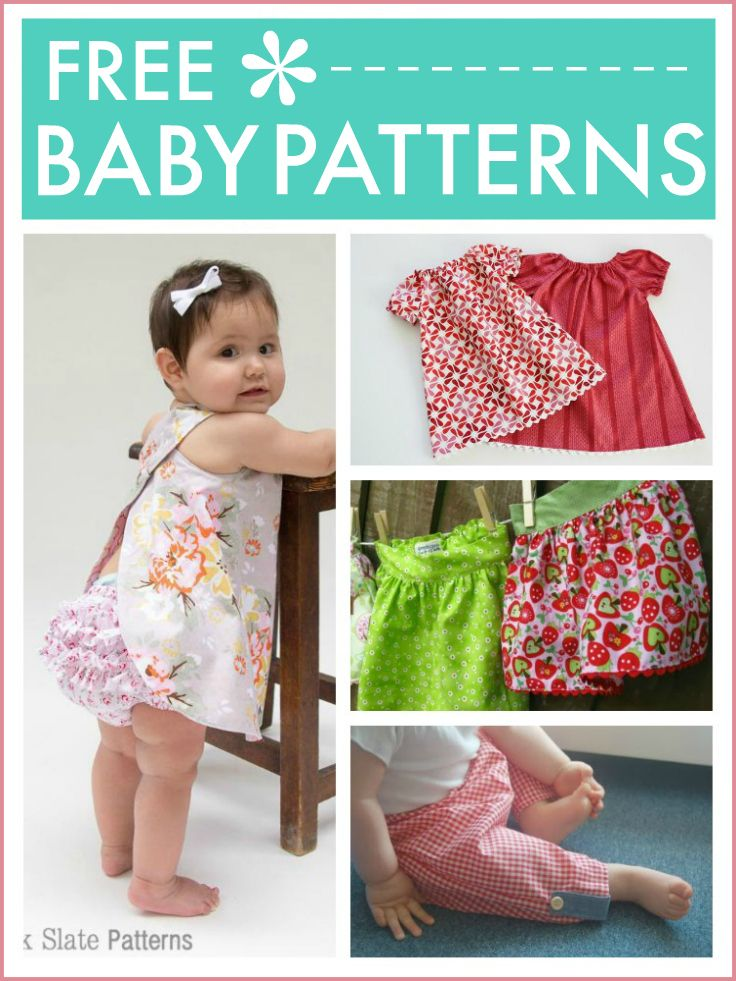Free baby patterns ... beautiful simple sewing patterns for everything baby needs from rompers and dresses to leggings , tiny skirts and more ... super easy to make even if you're not great at crafts ... do check out!