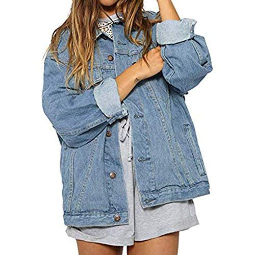 Women Loose Jeans Coat Autumn Winter Vintage Denim Jacket Long Sleeve  Cardigan Best Winter Coats for 3528f1e70508