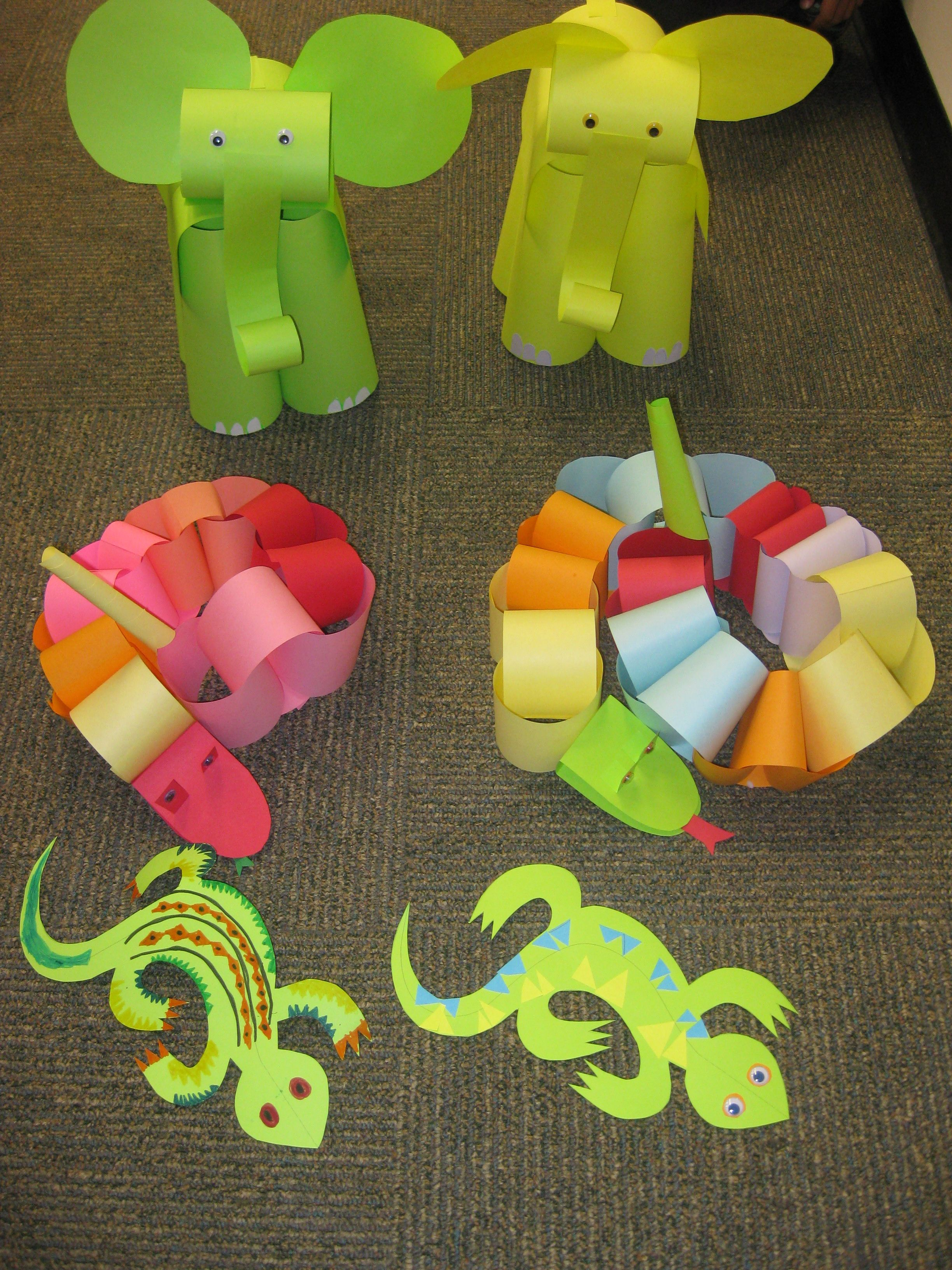 At Our August Paper Craft Program For Children We Escaped The Summer Heat By Plunging Into The