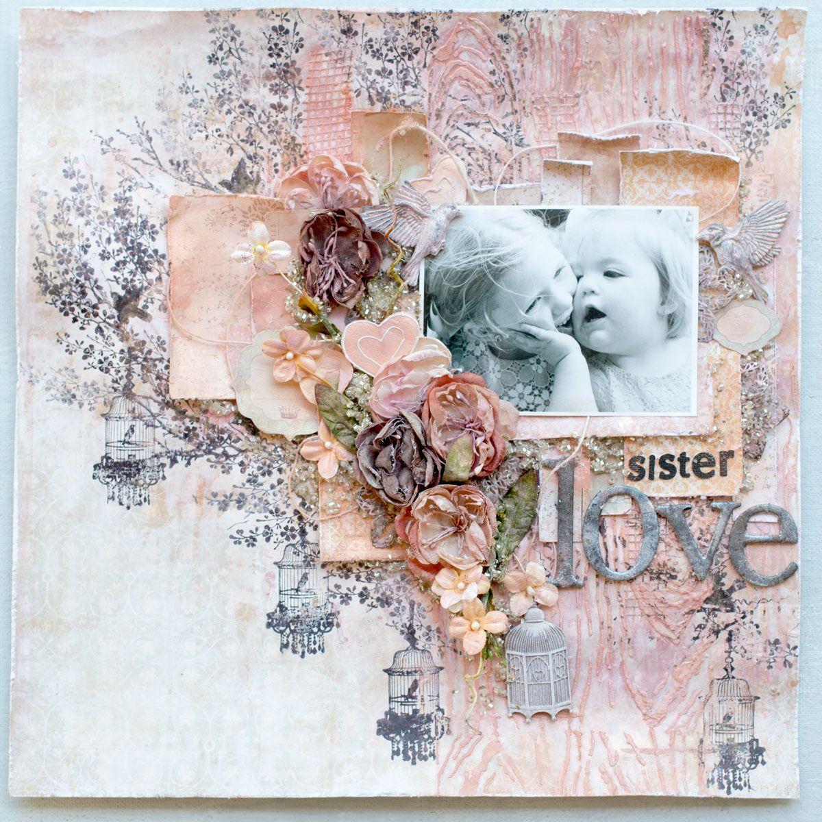 Scrapbook ideas sister - Sister S Love Layout Scrapbook Com
