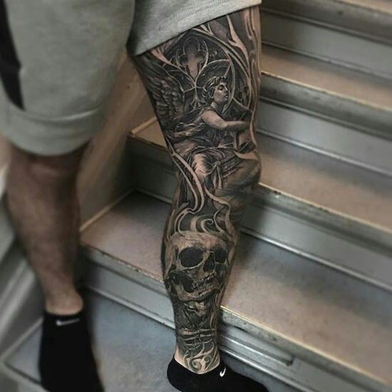 Pin By Kamil Stanisławczyk On Ink Leg Tattoo Men Tattoos For Guys Best Leg Tattoos