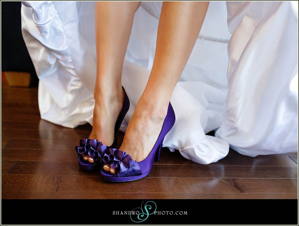 Purple Wedding Shoes purple wedding shoes Tales from the Aisle