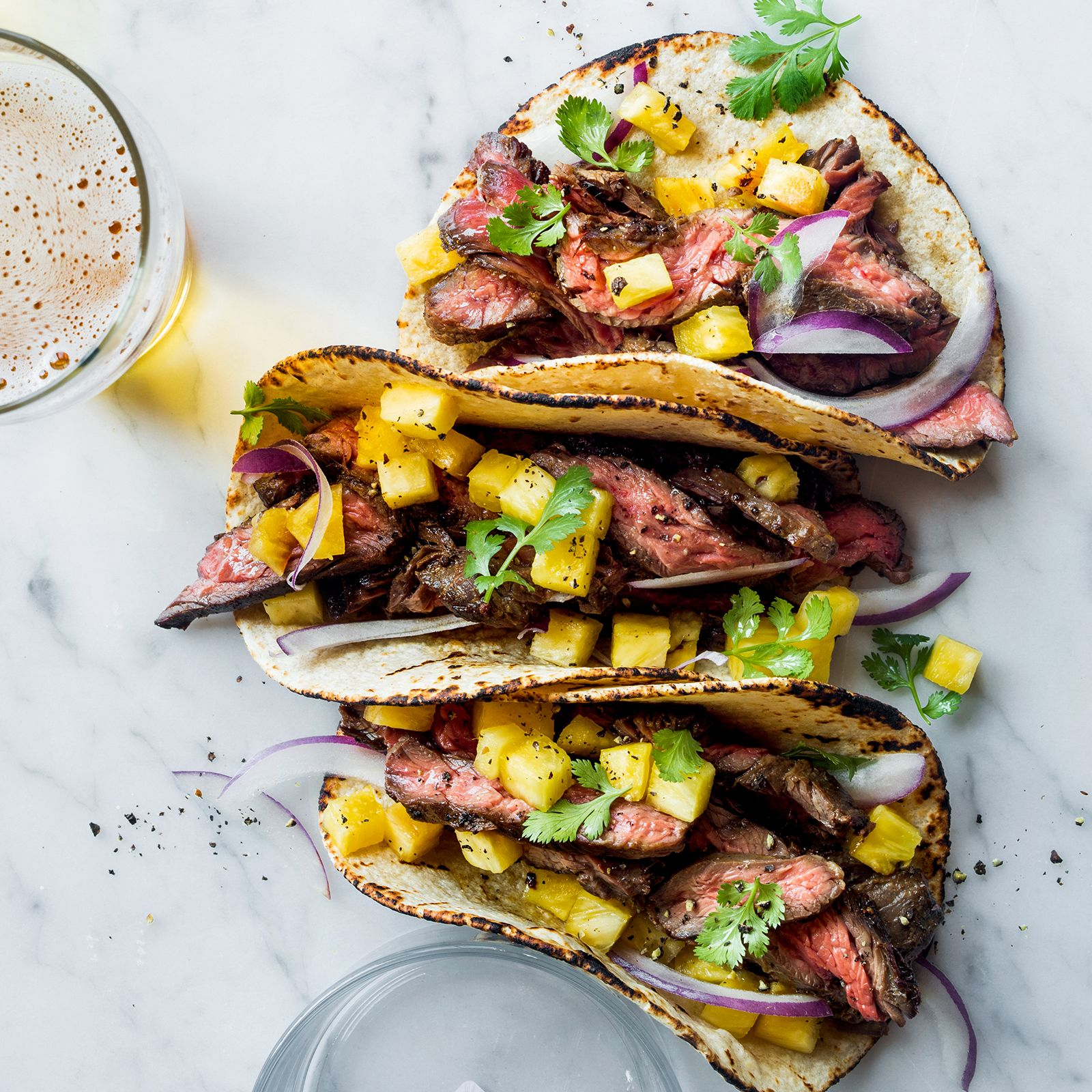 From fish tacos with creamy lime guacamole to crispy fried chicken-filled tacos, here are terrific taco recipes.