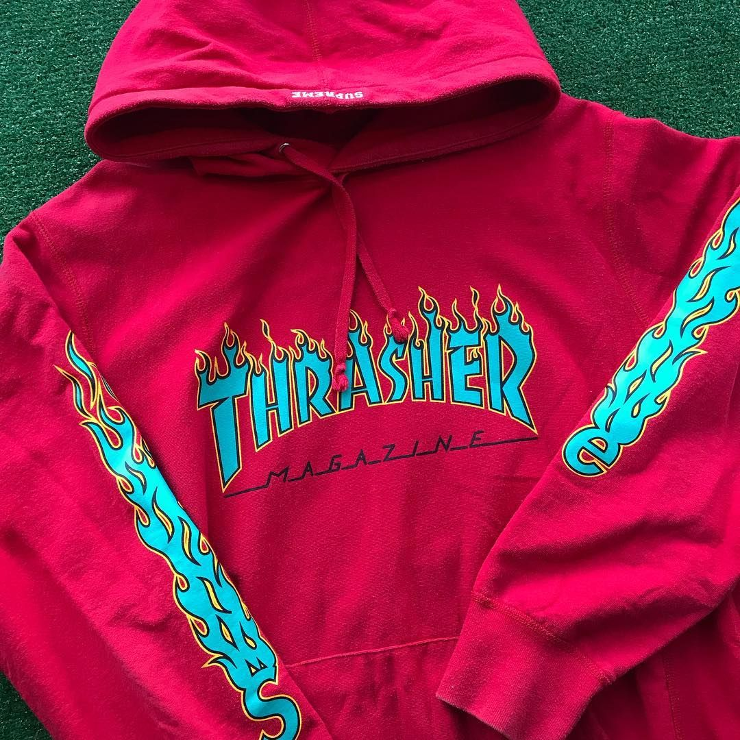 a8412a94f73 Supreme x Thrasher Flames Hoodie | i fucks with this in 2019 ...