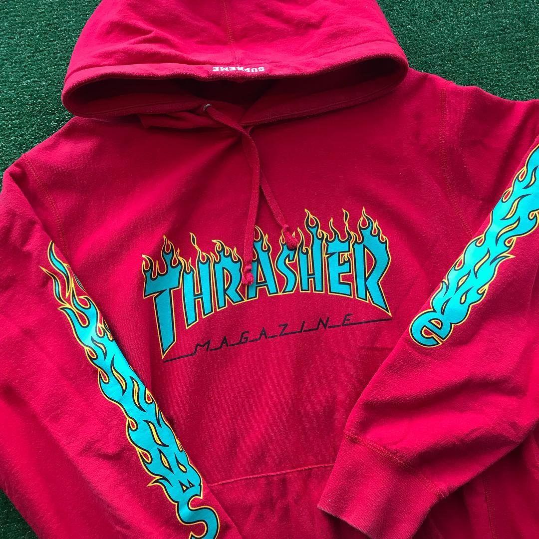 Supreme x Thrasher Flames Hoodie  67110dc77f