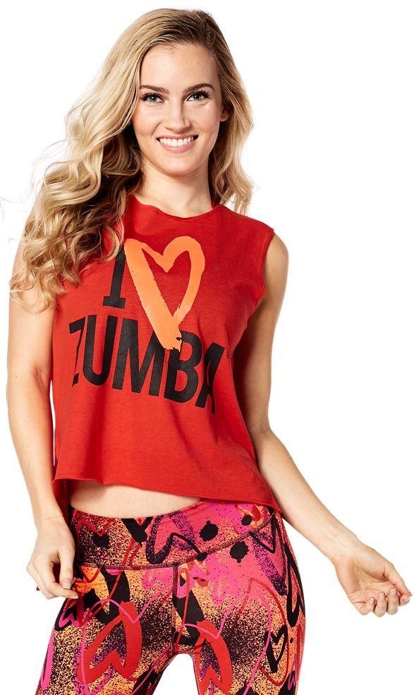 Zumba Love Slashed Tee | Zumba Fitness Shop