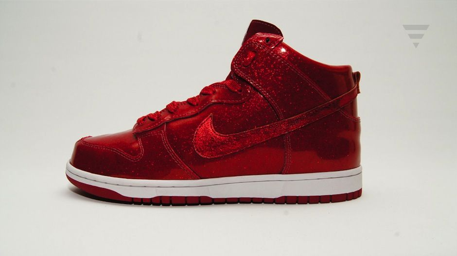 Ruby Red Slippers Custom Nike Dunk Shoes by Red Ribbon Recon