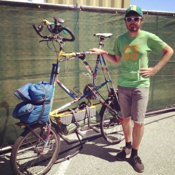 Tall Bike Bobby From Vancouver To La On A Hand Made Bicyle Bike