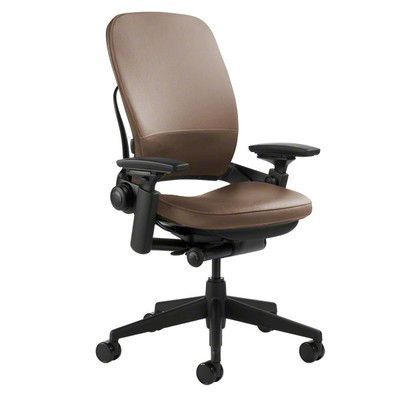 office chair upholstery. steelcase leap® high-back leather desk chair upholstery: - mahogany, office upholstery