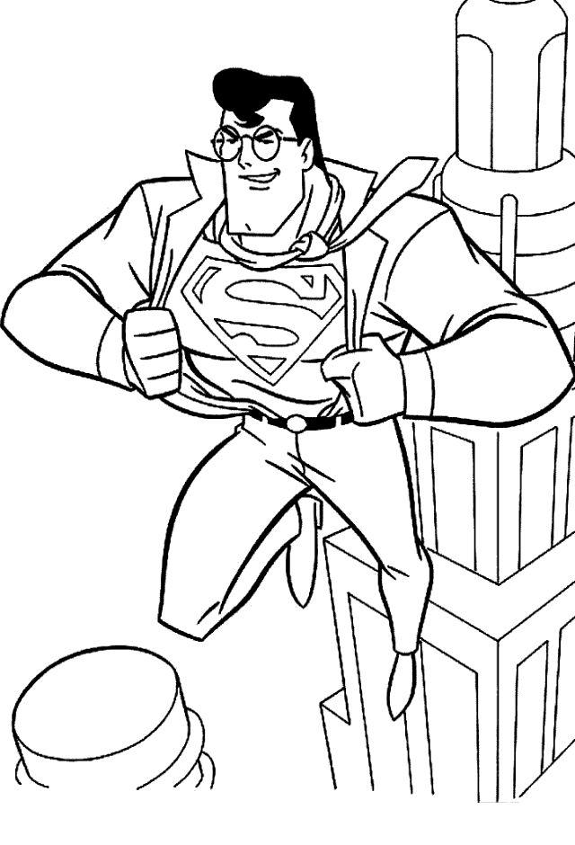 superman 2 ausmalbilder für kinder. malvorlagen zum