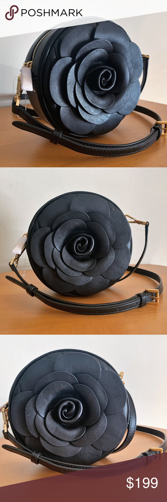 ae15343f4ef3 Michael Kors Canteen Bag ~ Vivianne 3D Rose Petals Michael Kors Vivianne  Canteen Bag BRAND NEW