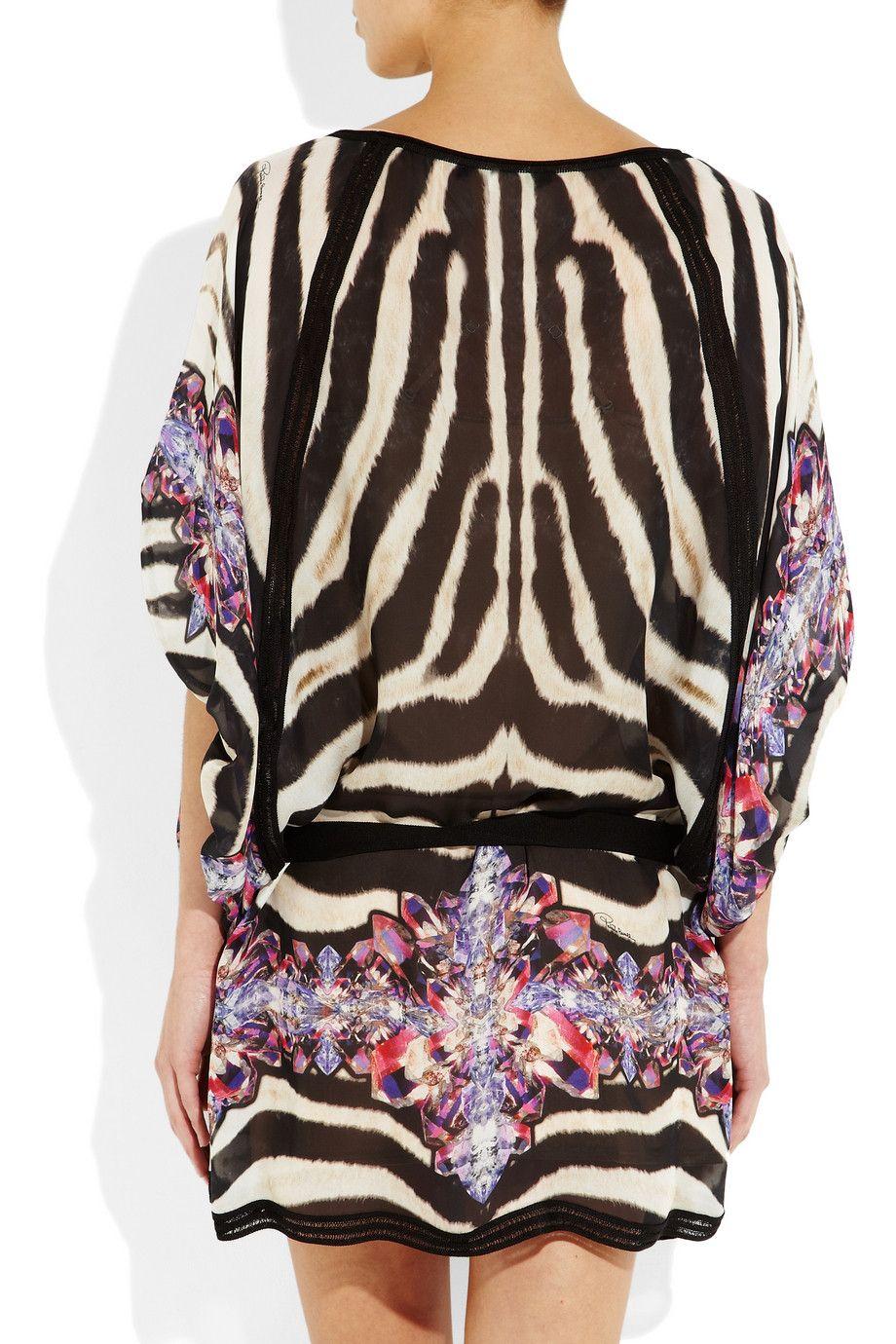 a3060e12061ef zebra kaftan from Roberto Cavalli | style | Silk kaftan, Kaftan ...
