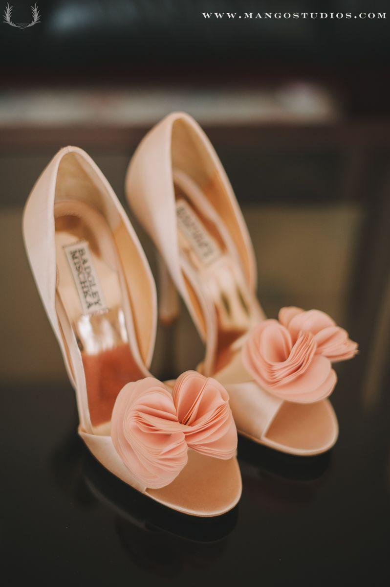Badgley Mischka Peach Bridesmaid Shoes