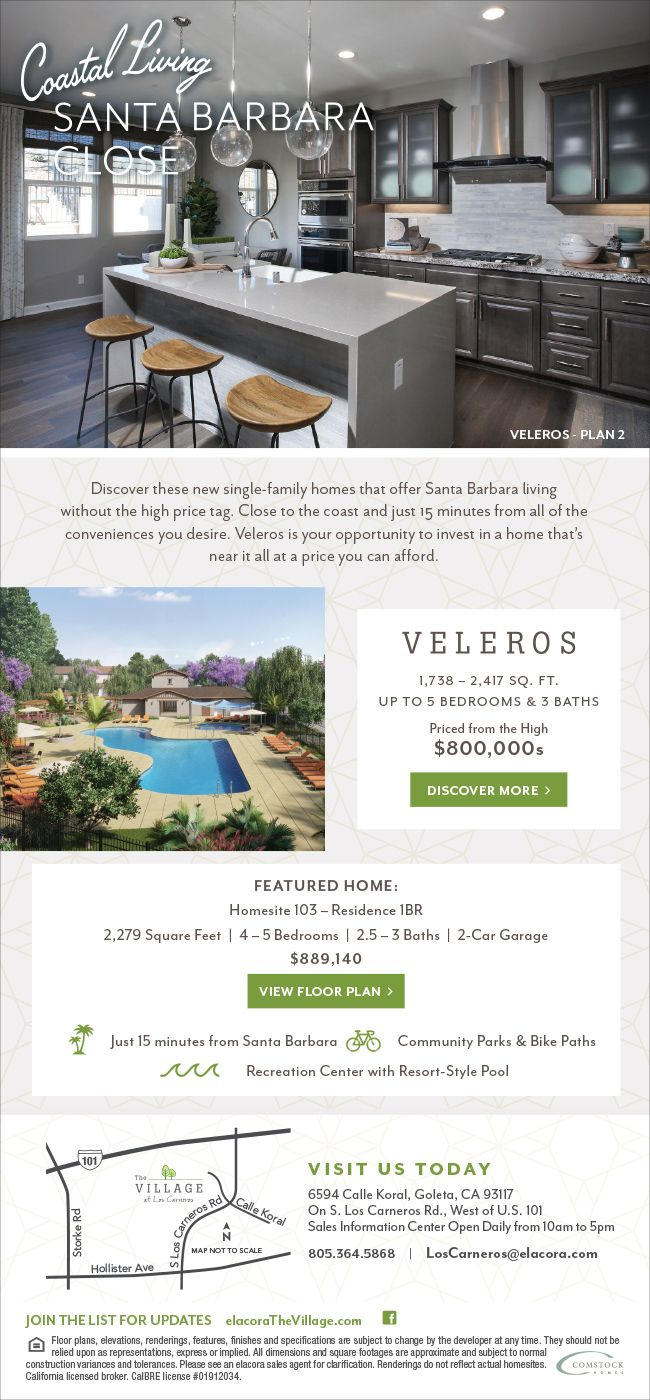 New Homes For Sale In Goleta California Where Great Location Meets