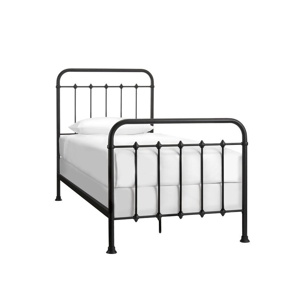 Stylewell Dorley Farmhouse Black Metal Twin Xl Bed 42 91 In W X 53 54 In H In 2020 Twin Xl Bedding Twin Xl