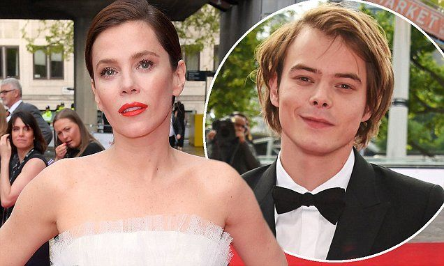 Anna Friel, 40, and Charlie Heaton dancing at TV BAFTAs