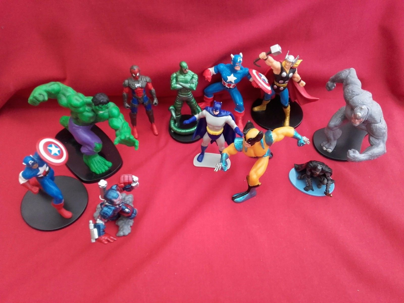 Marvel + dc comics figures - #batman, #spider-man, hulk, #thor, captain america,  View more on the LINK: 	http://www.zeppy.io/product/gb/2/282279729914/
