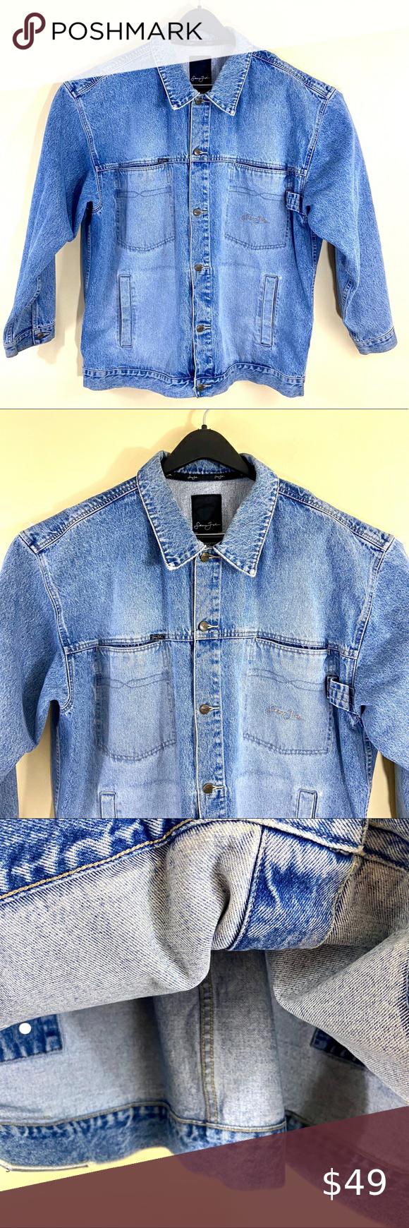 Sean John Vintage Button Blue Denim Jean Jacket Blue Denim Jeans Blue Denim Denim Jean Jacket [ 1740 x 580 Pixel ]