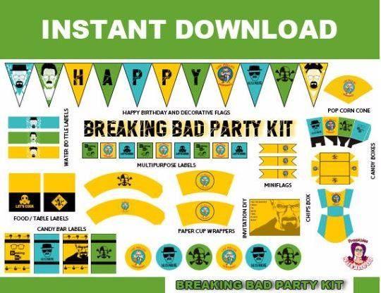 Descarga ahora el kit de fiesta de cumpleaos breaking bad para descarga ahora el kit de fiesta de cumpleaos breaking bad para crear fiestas temticas increbles urtaz Image collections
