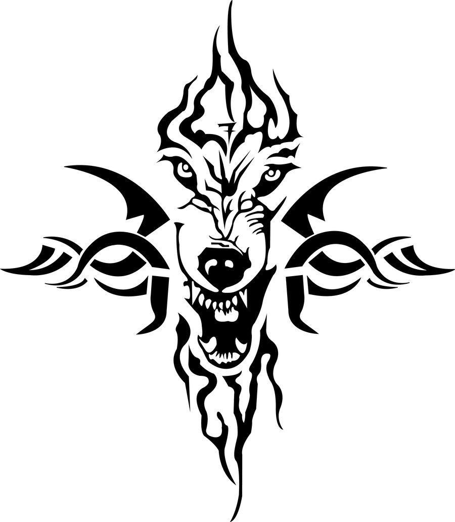 Wolf Tribal Tattoo Tribal Animal Tattoos Tribal Wolf Tribal Wolf Tattoo