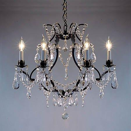 Wrought Iron Crystal Chandelier Lighting H19 X W20 Go A83 3030