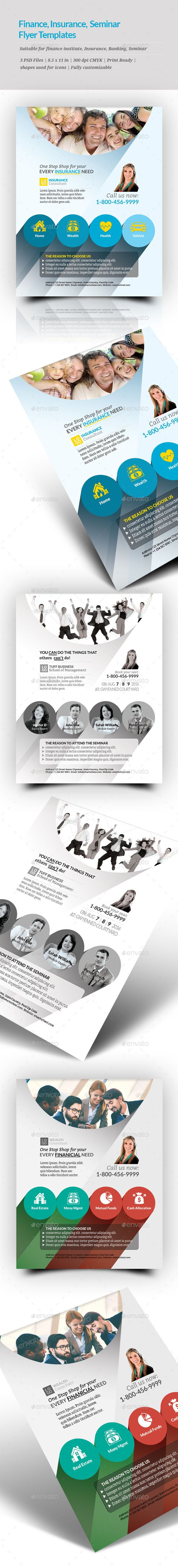 Finance Insurance Seminar Flyer Templates  Flyer Template