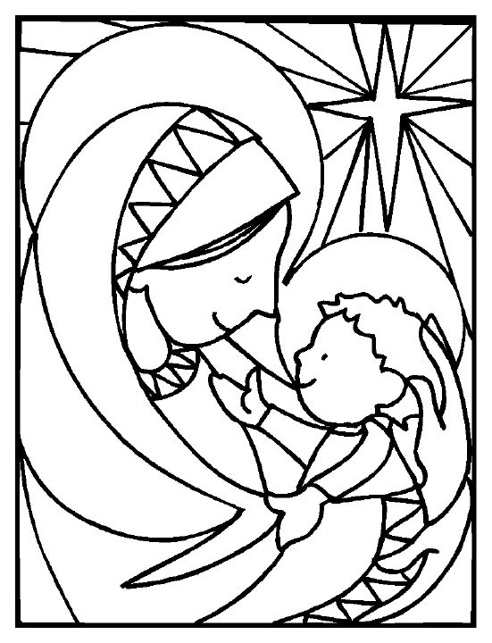 Free Printable Nativity Coloring Pages for Kids | Pinterest | Baby ...