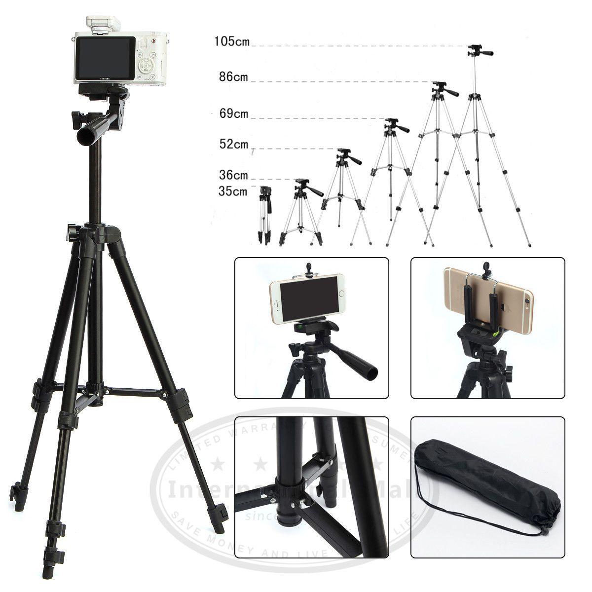 competitive price 8462d 50a0e Professional Telescopic Tripod Stand Holder for iPhone 6 Plus ...