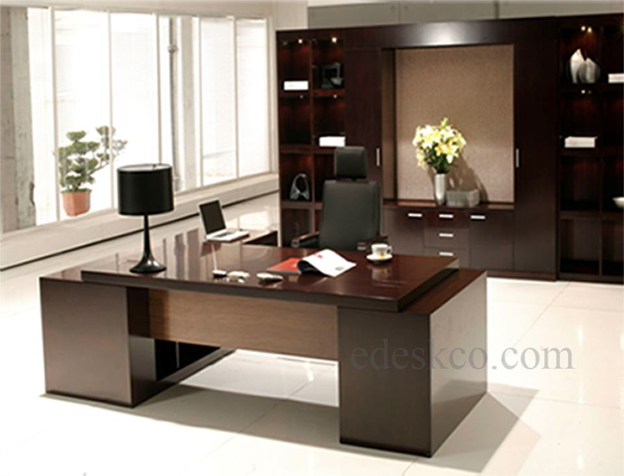Modern executive desk google search office pinterest for Office desk layout ideas