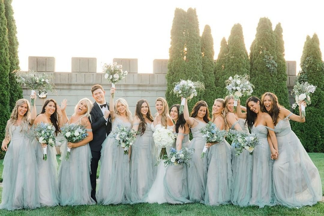 Wtoo By Watters On Instagram Cannot Get Enough Of Brittany S Blushing Bridesmaids Wearing Style 642 Wt Bridesmaid Wedding Party Outfits Bridesmaid Dresses