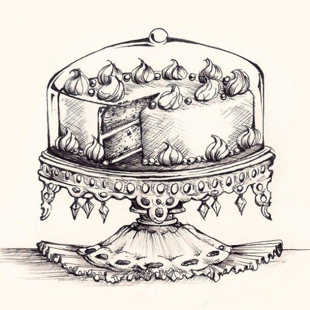 Cakestand by MadeleineInk | Art | Pinterest | Laminas, Decoupage y Negro