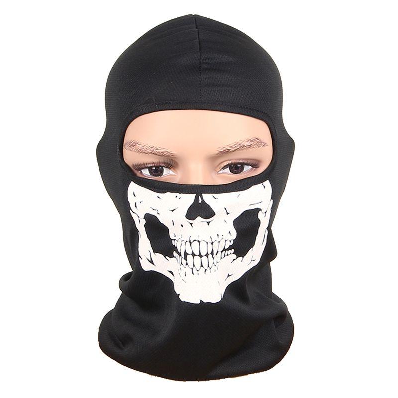 3D 새로운 야외 스포츠 사냥 자전거 자전거 스케이트 보드 오토바이 두개골 유령 스키 승마 모자 발라 클라 보호 전체 얼굴 마스크