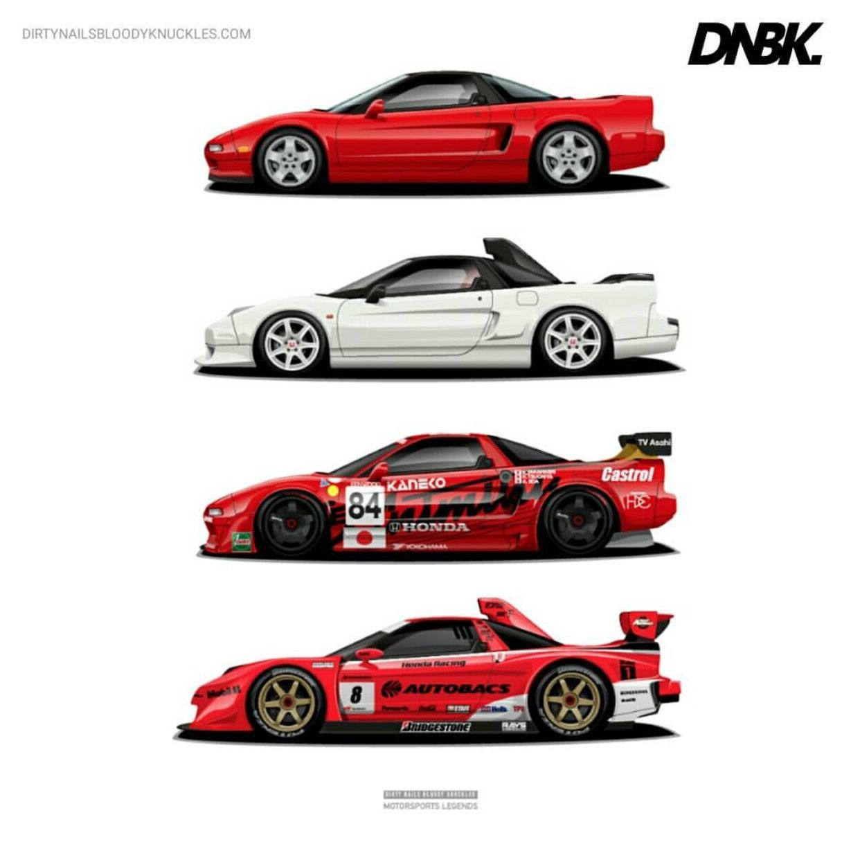 The Evolution Of The Honda NSX. One Of My Dream Cars