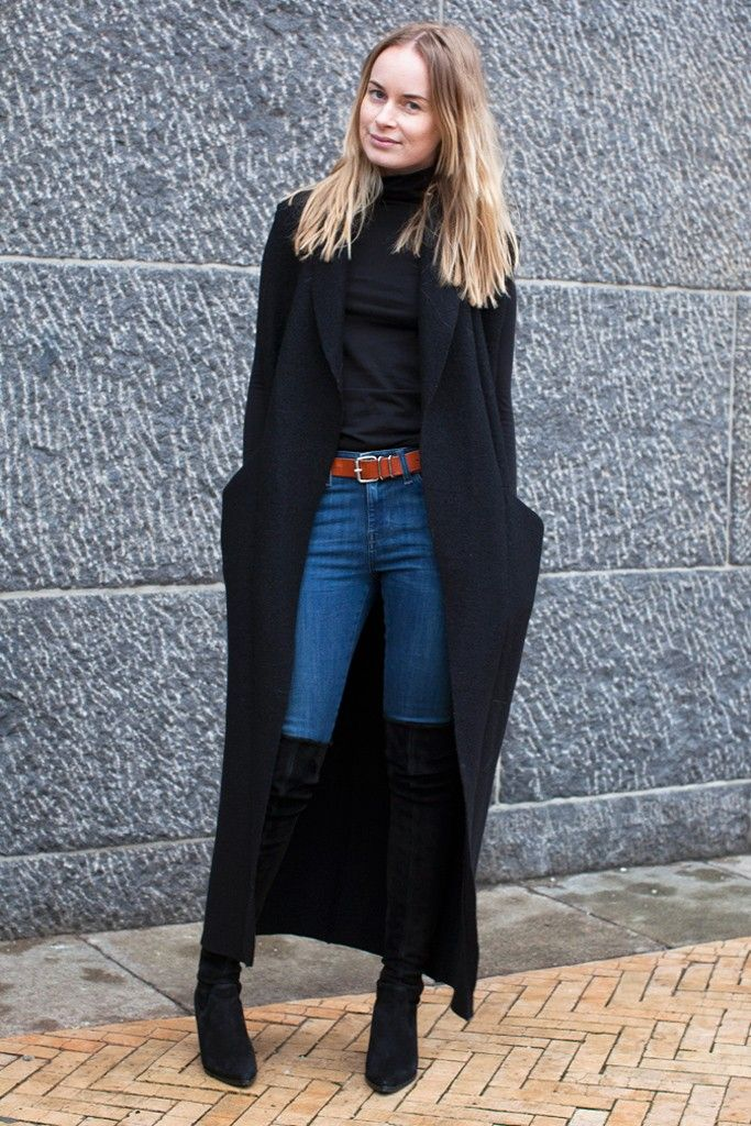 They Are Wearing: Copenhagen Fashion Week / Black, boots and denim
