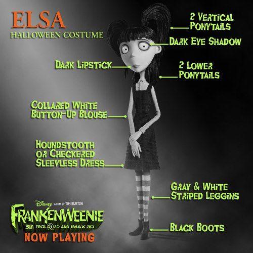 Elsa From Frankenweenie Costume Halloween Costumes Halloween Costumes Makeup Elsa Halloween Costume