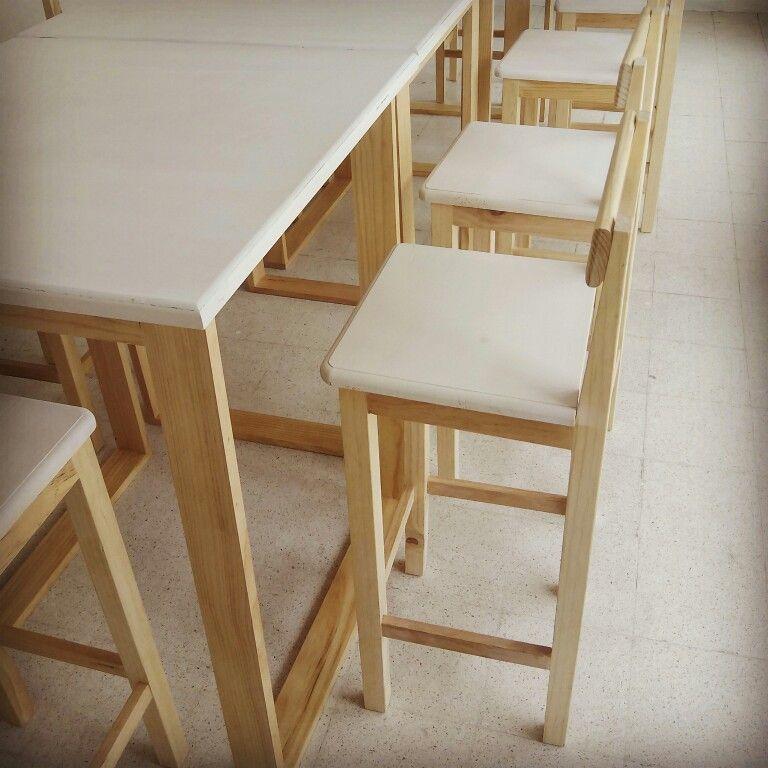 diseo de mueble mesas y sillas altas idea studio