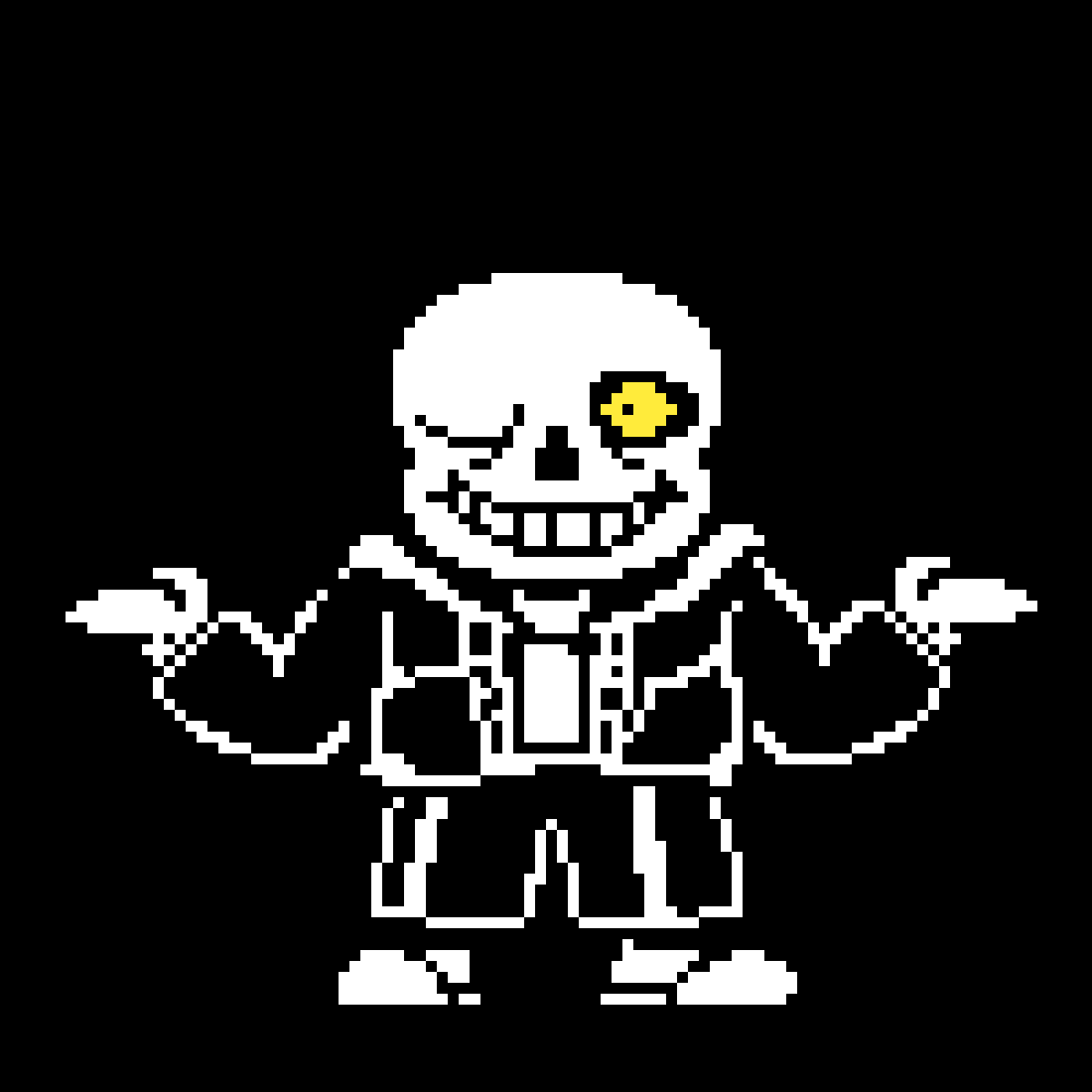 Original Sans Sprite By Toby Fox Edited By Me Here Is The Theme Https Www Youtube Com Watch V Gbto Color Palette Challenge Pixel Drawing Drawing Application