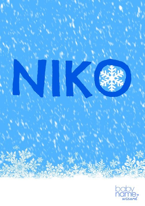 superficial Th Preceder  Niko: Meaning, origin, and popularity of the name. It's hard not to love  the sound of this Finnish form of Nicholas. With a l… | Cool boy names,  Nordic names, Names