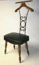 Vtg Valet Chair Seat Clothes Hanger Butler Suit Pants Gentleman s