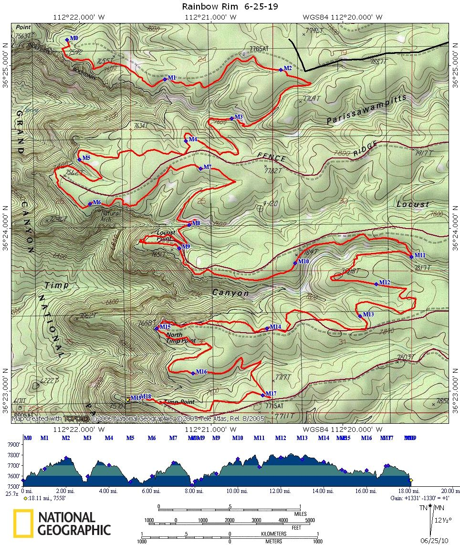 Arizona - Rainbow Rim Trail Map   Mountain Biking Trails   Pinterest ...
