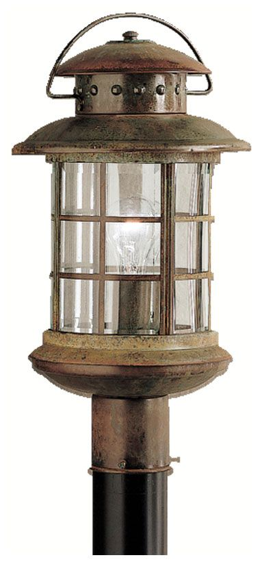 Kichler 9962rst Rustic Exterior 18 Inch Tall Nautical Lamp Post Lantern Kic