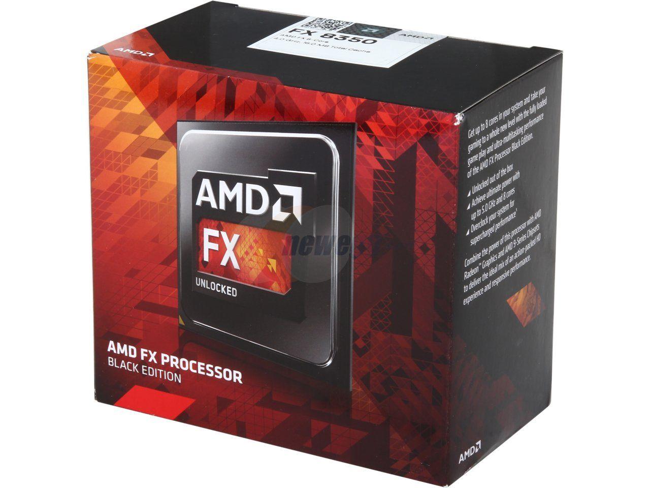 AMD Processor FX-8350 Black Edition Vishera 8-Core 4.0GHz (4.2GHz Turbo) Socket AM3+ 125W D8350FRHKBOX - Newegg.com