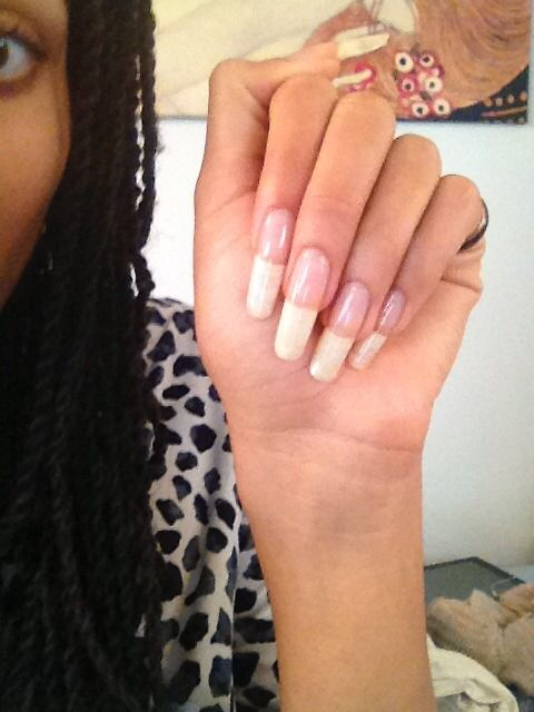 I Love Long Natural Nails As Well As Fake They Both Look Beautiful