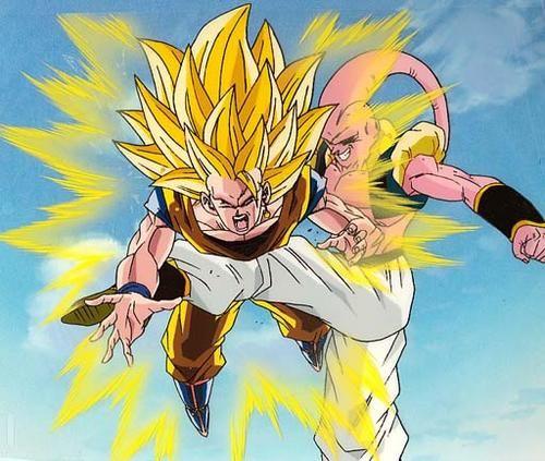Dragonball Z Goku Vs Super Majin Buu Dragon Ball Z Dragon Ball Wallpaper Iphone Dragon Ball