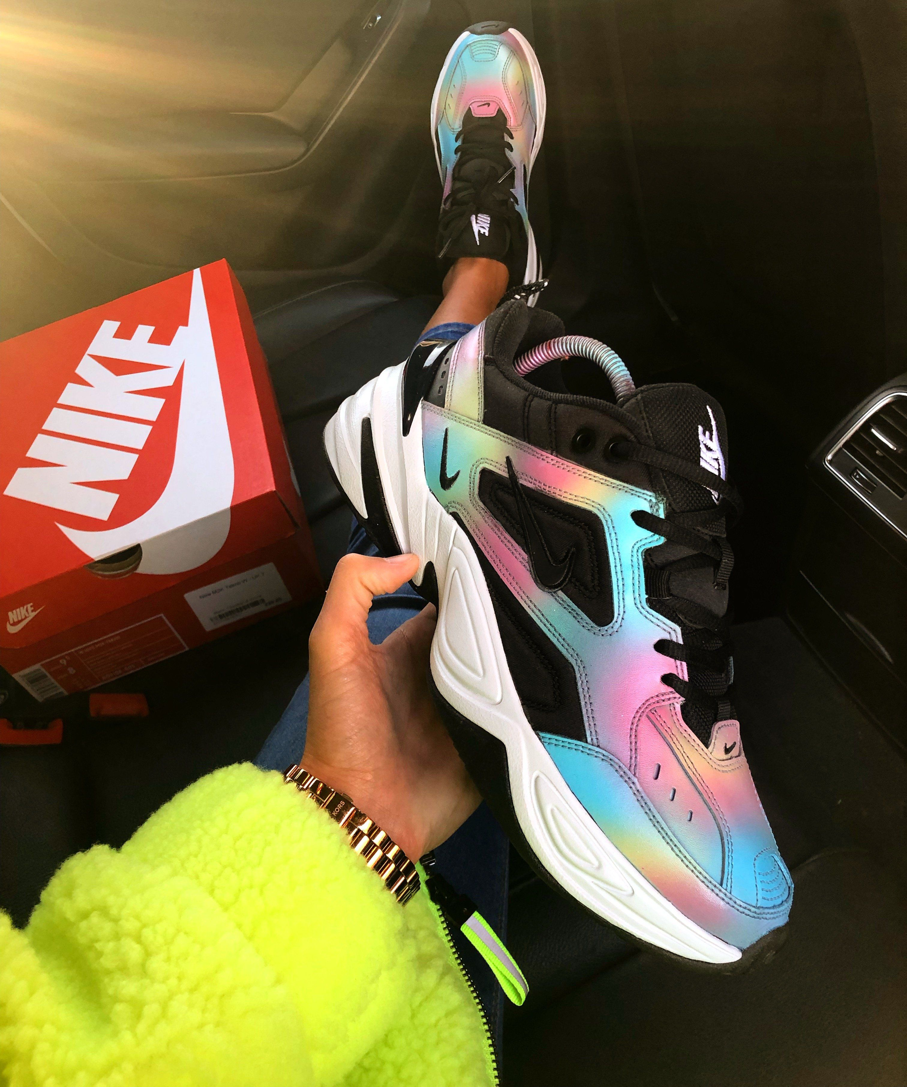 size 40 85dd1 a10d0 Oil Spill painted to perfection on Nike M2K tekno. These are customised and  made to order to each individual customer order.Upon purchasing my product,  ...