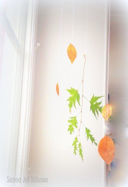 DIY  Leaves in window